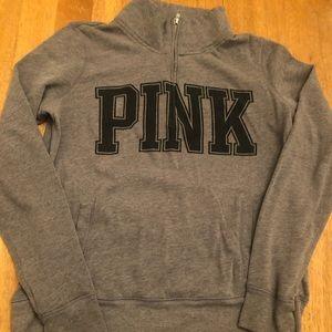 PINK half zip sweatshirt very good condition Med